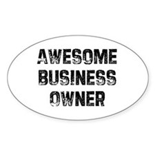 Awesome Business Owner Oval Decal