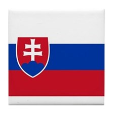 Flag of Slovakia Tile Coaster
