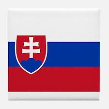 Flag of Slovakia Tile Coaster
