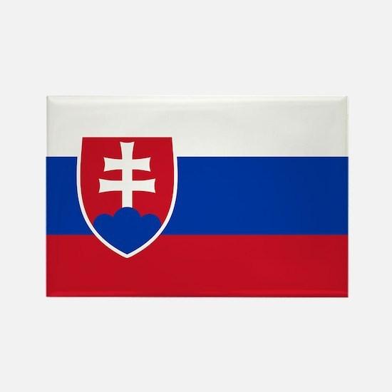 Flag of Slovakia Rectangle Magnet