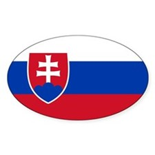 Flag of Slovakia Oval Bumper Stickers