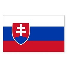 Flag of Slovakia Rectangle Decal