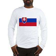 Flag of Slovakia Long Sleeve T-Shirt