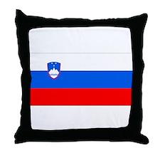 Flag of Slovenia Throw Pillow