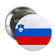 """Flag of Slovenia 2.25"""" Button (10 pack)"""