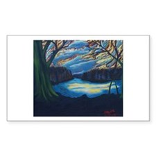 Twilight on The River Bend Decal