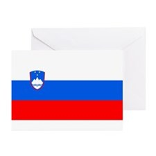 Flag of Slovenia Greeting Cards (Pk of 10)