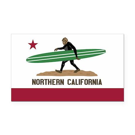 Northern California Bigfoot Rectangle Car Magnet