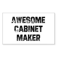 Awesome Cabinet Maker Rectangle Decal
