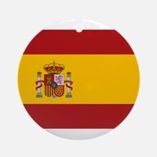 Flag of Spain Ornament (Round)