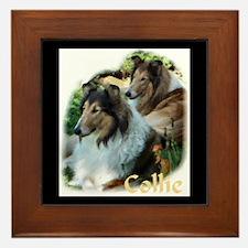 Collie Art Gifts Framed Tile