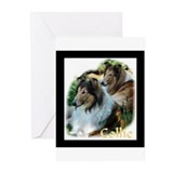 Rough collie Greeting Cards (10 Pack)