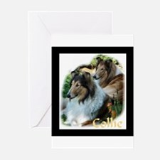 Collie Art Gifts Greeting Cards (Pk of 10)