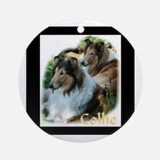 Collie Art Gifts Ornament (Round)