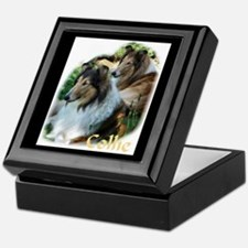 Collie Art Gifts Keepsake Box