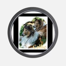 Collie Art Gifts Wall Clock