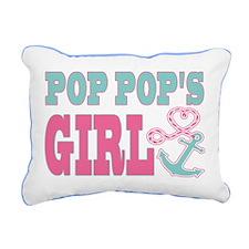 Pop Pops Girl Boat Anchor and Heart Rectangular Ca
