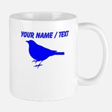 Custom Blue Robin Silhouette Mugs