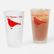 Custom Red Robin Silhouette Drinking Glass