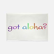 got aloha? (rainbow) Rectangle Magnet