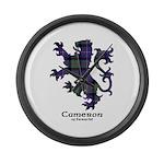 Lion - Cameron of Erracht Large Wall Clock