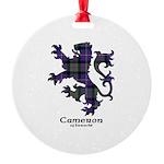 Lion - Cameron of Erracht Round Ornament