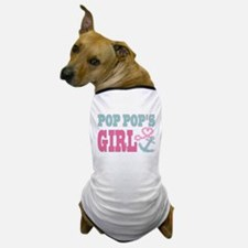 Pop Pops Girl Boat Anchor and Heart Dog T-Shirt