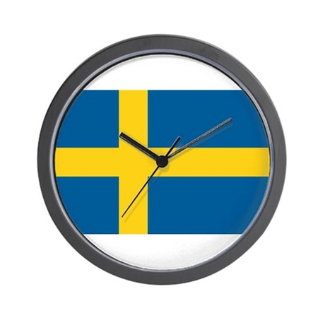 Flag of Sweden Wall Clock