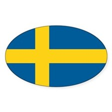 Flag of Sweden Oval Decal