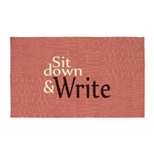 Sit Down and Write 3'x5' Area Rug