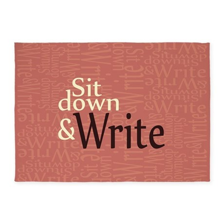 Sit Down and Write 5'x7'Area Rug