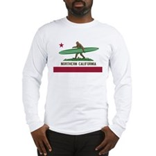 Northern California Bigfoot Long Sleeve T-Shirt
