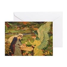 Vintage Religious Tapestry Greeting Card