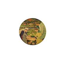Vintage Religious Tapestry Mini Button