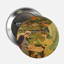 """Vintage Religious Tapestry 2.25"""" Button"""