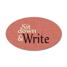 Sit Down and Write Wall Decal