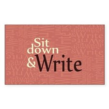 Sit Down and Write Decal