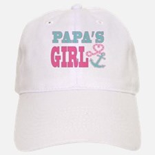 Papas Girl Boat Anchor and Heart Baseball Baseball Baseball Cap