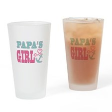 Papas Girl Boat Anchor and Heart Drinking Glass