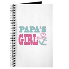 Papas Girl Boat Anchor and Heart Journal