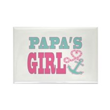 Papas Girl Boat Anchor and Heart Magnets
