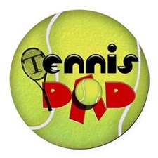 Tennis Dad Round Car Magnet