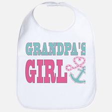 Grandpas Girl Boat Anchor and Heart Bib