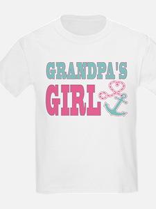Grandpas Girl Boat Anchor and Heart T-Shirt