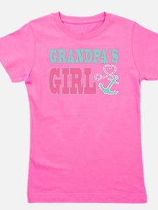 Grandpas Girl Boat Anchor and Heart Girl's Tee