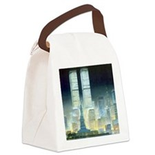 Twin Towers Canvas Lunch Bag