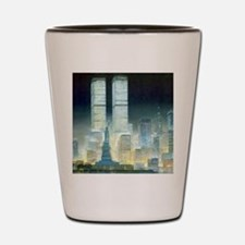 Twin Towers Shot Glass