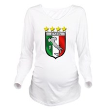 Italia Shield Long Sleeve Maternity T-Shirt