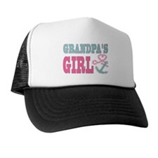 Grandpas Girl Boat Anchor and Heart Trucker Hat