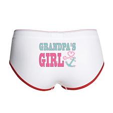 Grandpas Girl Boat Anchor and Heart Women's Boy Br